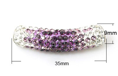 TUBO MM.35*9 STRASS CAT.A CRY/AMETHY