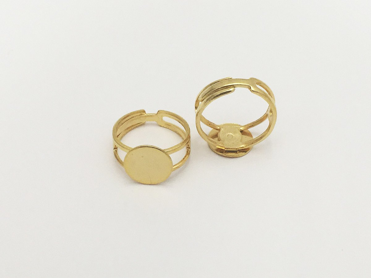 ANELLO REG.C/BASE PIATTA MM.11 ORO