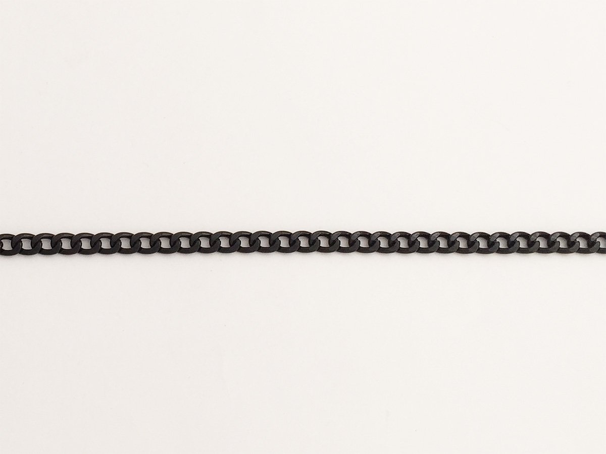 CATENA GROUMETTE IN ALLUMINIO BATTUTO COLORE NERO 18 x 6 MM