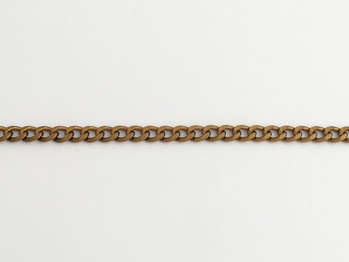 CATENA GRUMETTA IN ALLUMINIO BATTUTO COLORE BRONZO SATINATO 10 x 7,5 MM