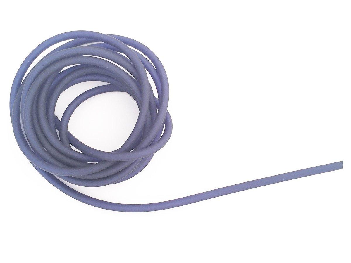 CORDONCINO PVC COLORE BLUE SCURO SATINATO 4 MM FORATO