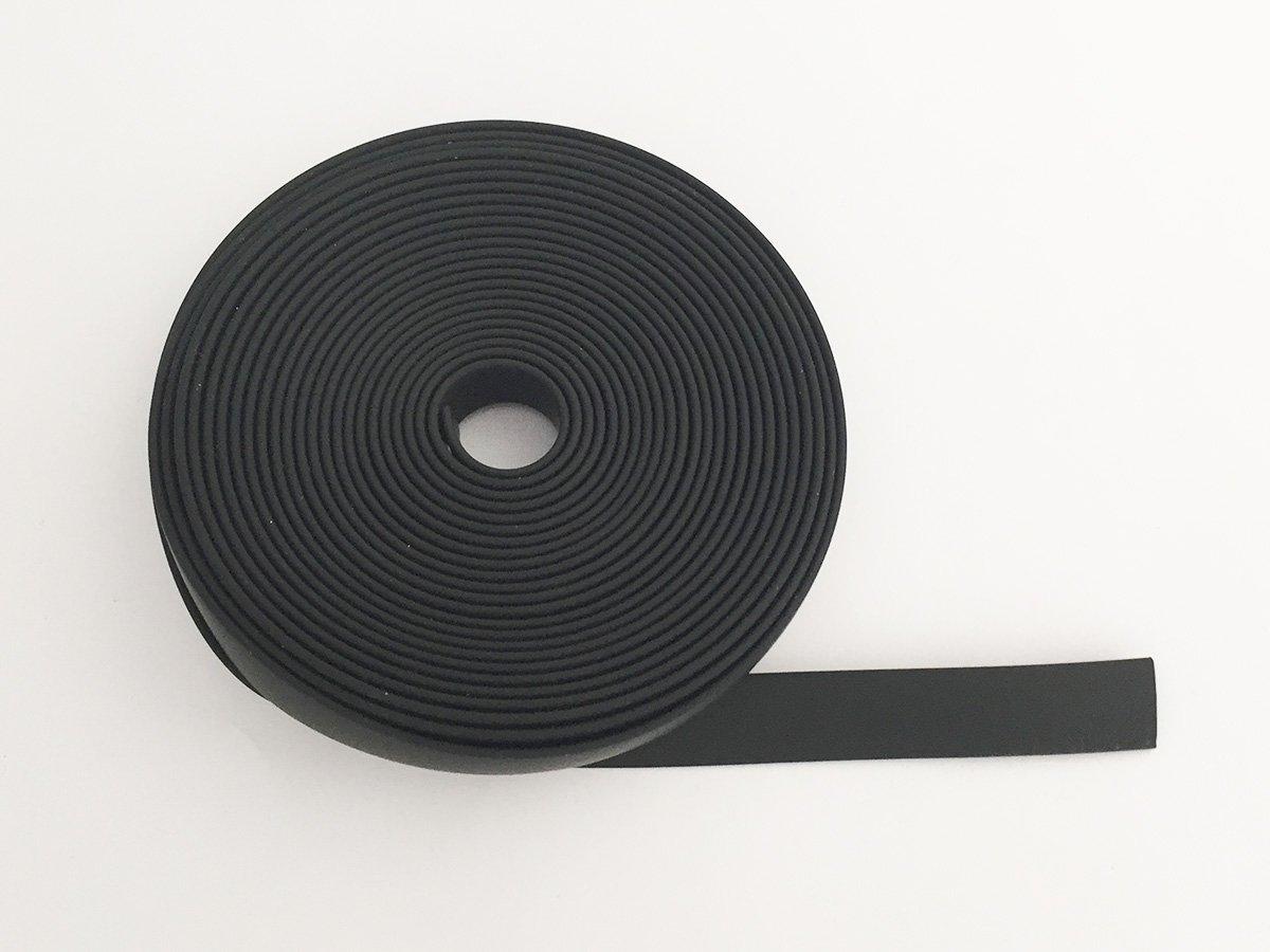 CORDONCINO PVC PIATTO COLORE NERO 15 x 2 MM