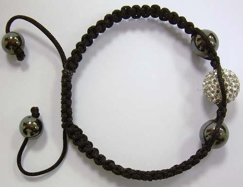 BRAC.MACRAME' 1 BALL MULTISTRASS CRY