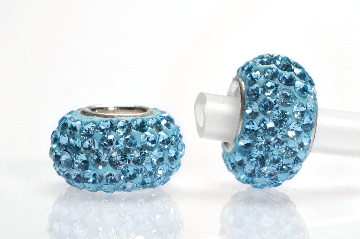 PANDORA STRASS MM.12×8 AQUAMARI