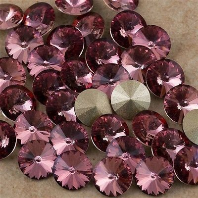 RIVOLO 1122 SWAROVSKI CRYSTAL ANTIQUE PINK 8 MM SS39